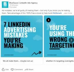 example linkedin carousel ad