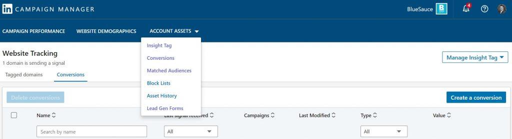 linkedin account assets image